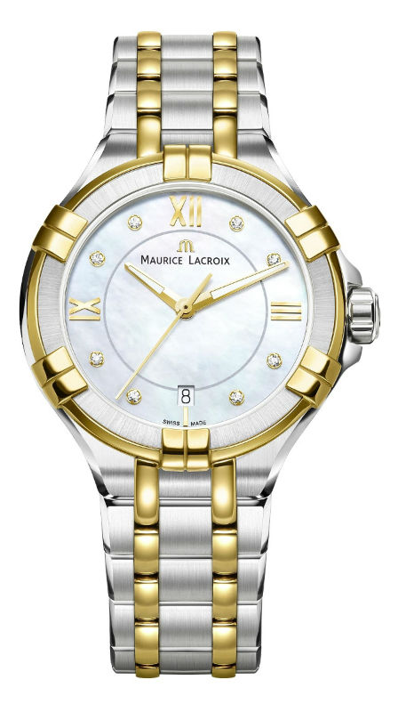 MAURICE LACROIX AIKON DATE LADIES QUARZ 35MM